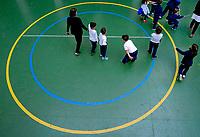 Crianças em recreio. Colegio Notre Dame, Sao Paulo. 2018. © Juca Martins.
