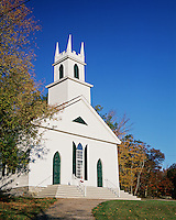 The exterior of the Stoddard Congregational Church. South Stoddard, New Hampshire.