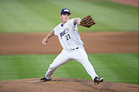 Winston-Salem Dash starting pitcher Jordan Stephens (27) in action against the Frederick Keys at BB&T Ballpark on May 24, 2016 in Winston-Salem, North Carolina.  The Keys defeated the Dash 7-1.  (Brian Westerholt/Four Seam Images)
