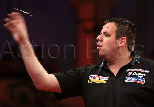 23.07.2011 World Match Play Darts from the Winter Gardens in Blackpool. Adrian Lewis in action against James Wade in the semi finals