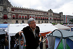 MEXICO DF. SEPTEMBER 2006. EVERY DAY THE SUPPORTERS OF PRESIDENTIAL CANDIDATE ANDRES MANUEL LOPEZ OBRADOR (IN THE PHOTO) CELEBRATE ONE MEETING AT THE CONSTITUTION SQUARE (ZOCALO), WHERE HE GIVES A SPEECH.