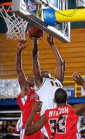 Florida International University Golden Panthers (11-15, 6-10 SBC) versus the University of Louisiana-Lafayette Ragin' Cajuns (9-18, 7-9 SBC) at Pharmed Arena, Miami, Florida on Thursday, February 22, 2007.  The Golden Panthers defeated the Ragin' Cajuns, 71-68...Freshman guard Cedric Essola (13)