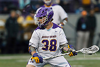 Sean Eccles (#38) prepares to take a shot as UAlbany Men's Lacrosse defeats Richmond 18-9 on May 12 at Casey Stadium in the NCAA tournament first round.