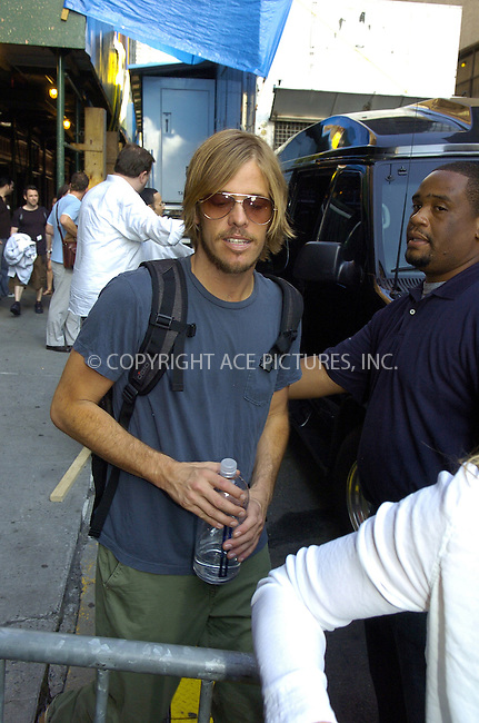 WWW.ACEPIXS.COM . . . . .  ....NEW YORK, NEW YORK, JUNE 13TH 2005....Taylor Hawkins of Foo Fighters at an appereance at the Late Show with David Letterman.....Please byline: Ian Wingfield - ACE PICTURES..... *** ***..Ace Pictures, Inc:  ..Craig Ashby (212) 243-8787..e-mail: picturedesk@acepixs.com..web: http://www.acepixs.com