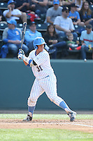Darrell Miller Jr (31) of the UCLA Bruins bats during a game against the Arizona Wildcats at Jackie Robinson Stadium on May 16, 2015 in Los Angeles, California. UCLA defeated Arizona, 6-0. (Larry Goren/Four Seam Images)