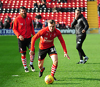 Lincoln City's Harry Anderson during the pre-match warm-up<br /> <br /> Photographer Andrew Vaughan/CameraSport<br /> <br /> The EFL Sky Bet League Two - Lincoln City v Mansfield Town - Saturday 24th November 2018 - Sincil Bank - Lincoln<br /> <br /> World Copyright &copy; 2018 CameraSport. All rights reserved. 43 Linden Ave. Countesthorpe. Leicester. England. LE8 5PG - Tel: +44 (0) 116 277 4147 - admin@camerasport.com - www.camerasport.com