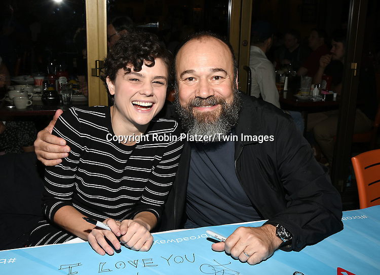 Melanie Moore and Danny Burstein attends the Broadway Cares/Equity Fights Aids Flea Market and Grand Auction on September 25, 2016 at the Music Box Theatre and in Shubert Ally in New York, New York, USA. <br /> <br /> photo by Robin Platzer/Twin Images<br />  <br /> phone number 212-935-0770