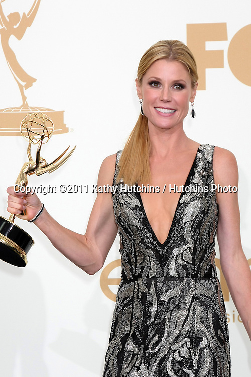 LOS ANGELES - SEP 18:  Julie Bowen in the Press Room at the 63rd Primetime Emmy Awards at Nokia Theater on September 18, 2011 in Los Angeles, CA