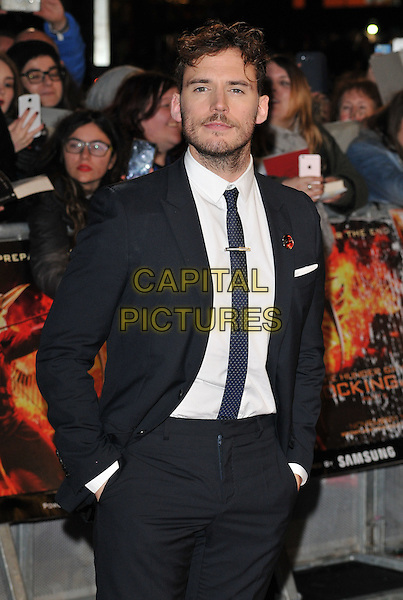 Sam Claflin attends the , Odeon Leicester Square, Leicester Square, London, England, UK, on Thursday 05 November 2015. <br /> CAP/CAN<br /> &copy;CAN/Capital Pictures