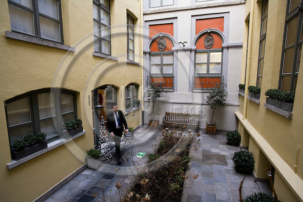 BRUSSELS - BELGIUM - 21 DECEMBER 2007 -- The inner Yard of Hotel Le Dixseptième seen from Rue de la Madeleine.  Photo: Erik Luntang/EUP-IMAGES/