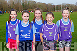 St Brigids College Killarney runners at the Kerry Colleges Cross Country in Killarney on Friday l-r: Hannah ryan, Gemma Murphy, Ann Hickey, Ali O'Donoghue and Kathryn Ryan