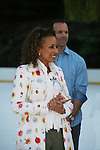Law & Order SVU's Tamara Tunie (As The World Turns) & Bret Hedican at Skating with the Stars (celebrities & Olympic skaters), a benefit gala for Figure Skating in Harlem on April 6, 2010 at Wollman Rink, Central Park, New York City, New York. (Photo by Sue Coflin/Max Photos)