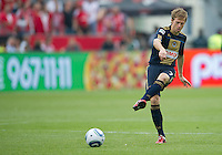 Philadelphia Union midfielder Brian Carroll #7 in action during an MLS game between the Philadelphia Union and the Toronto FC at BMO Field in Toronto on May 28, 2011..The Philadelphia Union won 6-2..