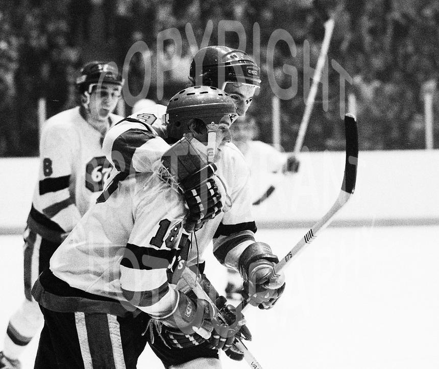 Bjorn Skaare Shane Pearsall Ottawa 67's 1978. Photo Scott Grant