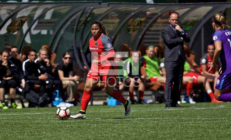 Portland, OR - Saturday April 15, 2017: Meg Morris during a regular season National Women's Soccer League (NWSL) match between the Portland Thorns FC and the Orlando Pride at Providence Park.