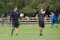 Orlando, FL - Friday Oct. 14, 2016:   Lead instructor Vanni Sartini and a candidate during a US Soccer Coaching Clinic in Orlando, Florida.