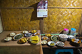 INDONESIA, Flores, Dinner is served at a home in Waturaka Village