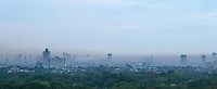 Heavy smog, pollution over Metro Manila, Philippines
