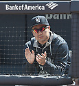 Masahiro Tanaka (Yankees), APRIL 29, 2015 - MLB : Masahiro Tanaka of the New York Yankees watches from the dugout during the Major League Baseball game against the Tampa Bay Rays at Yankee Stadium in the Bronx, New York, United States. (Photo by AFLO)