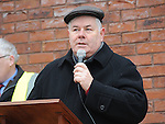Fr Murphy TD speaking at the Save St Joseph's hospital march. Photo: Colin Bell/pressphotos.ie