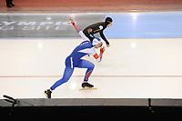 SPEEDSKATING: SALT LAKE CITY: 08-12-2017, Utah Olympic Oval, ISU World Cup, 500m Men A-Division, Ryohei Haga (JPN), Pavel Kulizhnikov (RUS), ©photo Martin de Jong