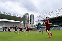 Picture by David Neilson/SWpix.com/PhotosportNZ - 09/02/2018 - Rugby League - Betfred Super League - Wigan Warriors v Hull FC - Captain's Run - WIN Stadium, Wollongong, Australia - Wigan warm up during the captain's run.
