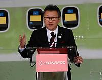 Hiroki Kato, president of Japan Air Commuter<br /> Cerimonia di consegna della 1500 fusoliera di un ATR costruita  nella Leonardo di Pomigliano D'arco<br /> <br /> Ceremony of Delivery  of 1500th   fusolage  at ATR by Leonardo plant in Pomigliano d'arco