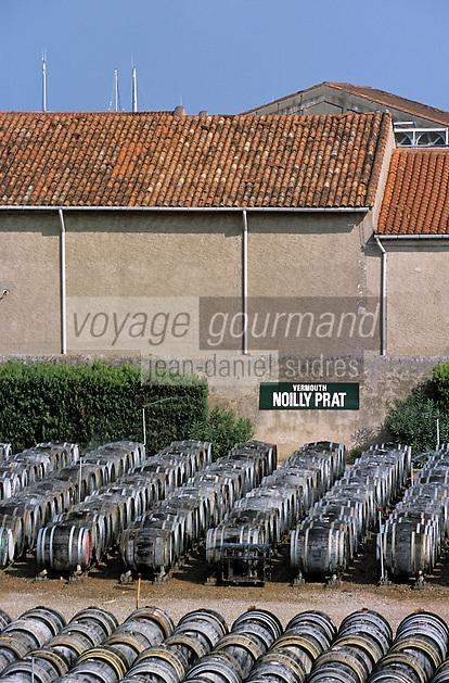Europe/France/Languedoc-Roussillon/34/Hérault/Marseillan: Chais de Noilly-Prat - Enclos de vieillissement en futs en plein air (Vermouth sec)