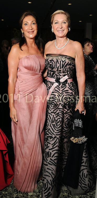 "Soraya McClelland and Carol Linn at ""Modern"" the  Museum of Fine Arts Houston's Grand Gala Ball  Friday Oct. 12,2012.(Dave Rossman photo)"