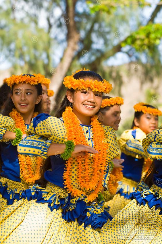 Keiki (children) dancing at Kapi'olani Park, Honolulu, O'ahu.
