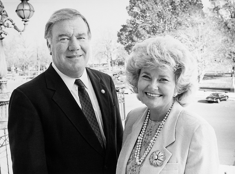 Rep. Carroll Hubbard, D-Ky. and wife Carol Hubbard. (Photo by Maureen Keating/CQ Roll Call)