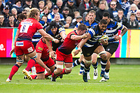 Bath Rugby's Taulupe Faletau in action during todays match<br /> <br /> Photographer Bob Bradford/CameraSport<br /> <br /> Aviva Premiership - Bath Rugby v Worcester Warriors - Saturday 7th October 2017 - The Recreation Ground - Bath<br /> <br /> World Copyright &copy; 2017 CameraSport. All rights reserved. 43 Linden Ave. Countesthorpe. Leicester. England. LE8 5PG - Tel: +44 (0) 116 277 4147 - admin@camerasport.com - www.camerasport.com