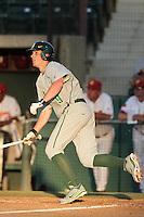 Aaron Jones #9 of the Oregon Ducks bats against the USC Trojans at Dedeaux Field in Los Angeles,California on April 15, 2011. Photo by Larry Goren/Four Seam Images