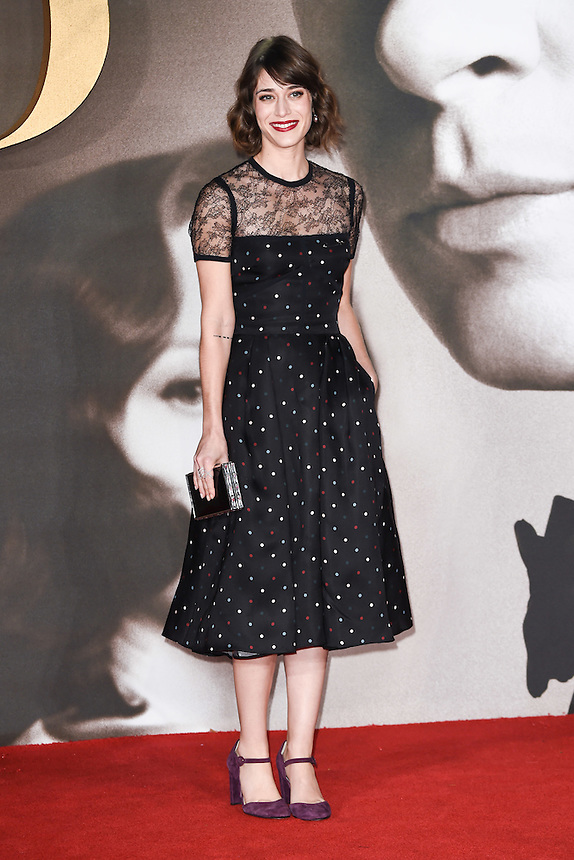 """Lizzy Caplan<br /> at the """"Allied"""" UK premiere, Odeon Leicester Square, London.<br /> <br /> <br /> ©Ash Knotek  D3202  21/11/2016"""