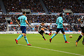 4th November 2017, St James Park, Newcastle upon Tyne, England; EPL Premier League football, Newcastle United Bournemouth; Matt Ritchie of Newcastle United fires in shot early in the first half