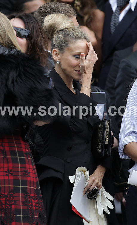 **ALL ROUND PICTURES FROM SOLARPIX.COM**                                             **NO UK NEWSPAPER PUBLICATION**.**UK MAGAZINE & SUPPLEMENT PUBLICATION ONLY** AND NO PUBLICATION IN AUSTRALIA, BELGIUM, FRANCE, GERMANY, ITALY, SCANDINAVIA AND USA**                                                                                  Caption: memorial service for the late fashion designer Alexander McQueen. London, UK. 20 September 2010                                                                              This pic:  Sarah Jessica Parker JOB REF: 12143       SFE       DATE: 20_09_2010                                                            **MUST CREDIT SOLARPIX.COM OR DOUBLE FEE WILL BE CHARGED**                                                                      **MUST AGREE FEE BEFORE ONLINE USAGE**                               **CALL US ON: +34 952 811 768 or LOW RATE FROM UK 0844 617 7637**