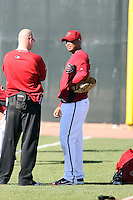 Juan Jaime, Arizona Diamondbacks 2011 spring training workouts at the Diamondbacks new training complex at Salt River Fields at Talking Stick, Scottsdale, AZ - 02/14/2011.Photo by:  Bill Mitchell/Four Seam Images.