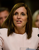 United States Senator Martha McSally (Republican of Arizona) introduces Barbara M. Barrett who will testify on her nomination to be Secretary of the Air Force before the United States Senate Committee on Armed Services on Capitol Hill in Washington, DC on Thursday, September 12, 2019.<br /> Credit: Ron Sachs / CNP