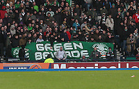The Green Brigade banner in the St Mirren v Celtic Scottish Communities League Cup Semi Final match played at Hampden Park, Glasgow on 27.1.13.