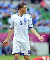 FUSSBALL  EUROPAMEISTERSCHAFT 2012   VORRUNDE Griechenland - Tschechien         12.06.2012 Kyriakos Papadopoulos (Griechenland)