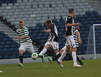 Chris Kane clears in the Dunfermline Athletic v Celtic Scottish Football Association Youth Cup Final match played at Hampden Park, Glasgow on 1.5.13.