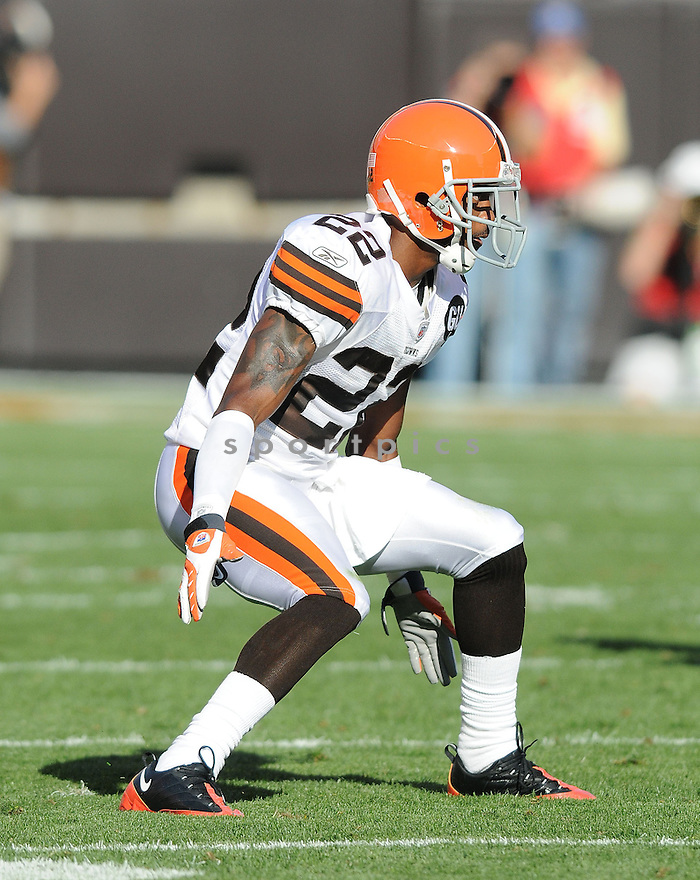 BRANDON MCDONALD, of the Cleveland Browns , in action during the Browns game against the Dallas Cowboys in Cleveland, Ohio on September 7, 2008..The Dallas Cowboys won 28-10
