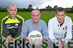 James Sheehan manager centre with Kieran O'Shea physio, Gary McGrath Trainer