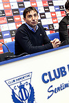 CD Leganes' coach Asier Garitano in press conference after La Liga match. February 25,2017. (ALTERPHOTOS/Acero)