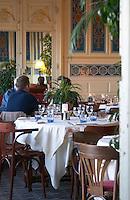 Restaurant. La Belle Epoque. Bordeaux city, Aquitaine, Gironde, France