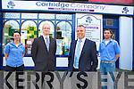 John McEnery, Cartridge Company, Old Market Lane, Killarney, pictured with Marta Doberschuetz, John Nelligan and Niall Marshall.