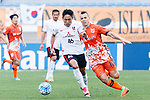 Urawa Reds Defender Moriwaki Ryota (L) fights for the ball with Jeju United Forward Marcelo Toscano (R) during the AFC Champions League 2017 Round of 16 match between Jeju United FC (KOR) vs Urawa Red Diamonds (JPN) at the Jeju Sports Complex on 24 May 2017 in Jeju, South Korea. Photo by Yu Chun Christopher Wong / Power Sport Images