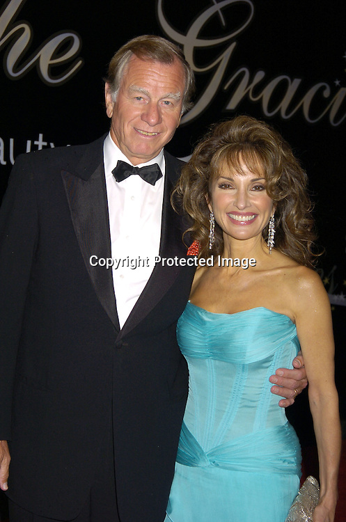 Helmet Huber and Susan Lucci ..at The American Women in Radio and Television's 30th Annual Gracie Allen Awards on June 22, 2005 at the Marriott Marquis. ..Photo by Robin Platzer, Twin Images