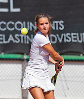 Netherlands, Rotterdam August 05, 2015, Tennis,  National Junior Championships, NJK, TV Victoria,  Sanne van de Griendt<br /> Photo: Tennisimages/Henk Koster