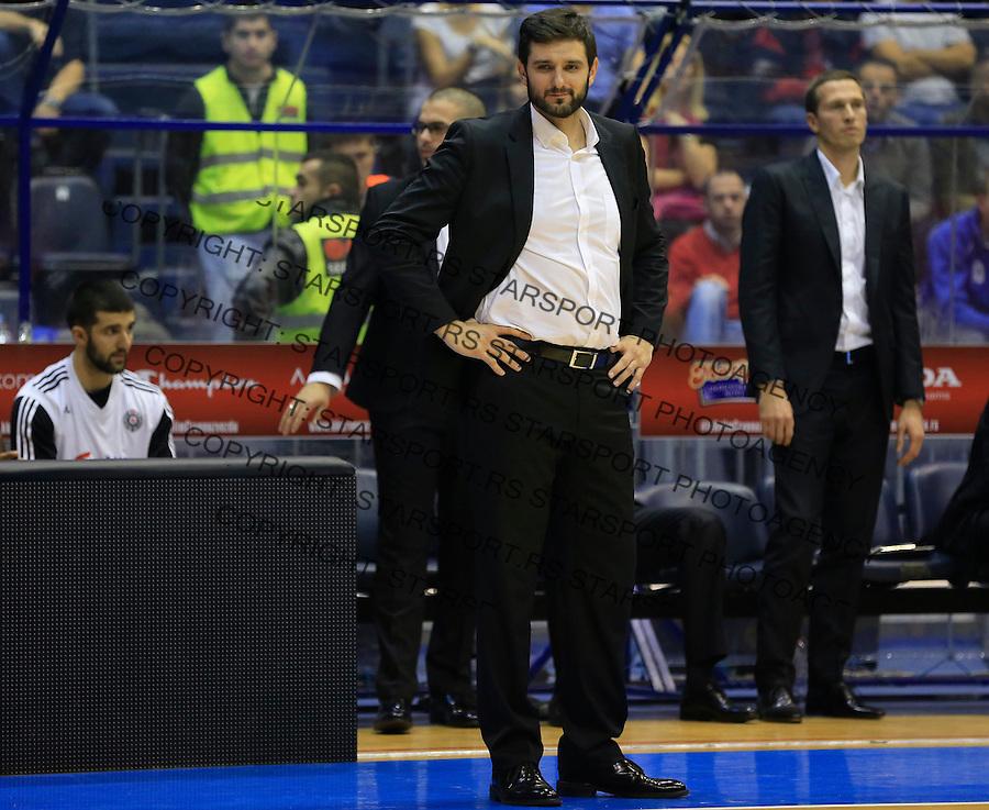Kosarka ABA League season 2015-2016<br /> Crvena Zvezda v Partizan<br /> Head coach Petar Bozic (C)<br /> Beograd, 03.11.2015.<br /> foto: Srdjan Stevanovic/Starsportphoto&copy;